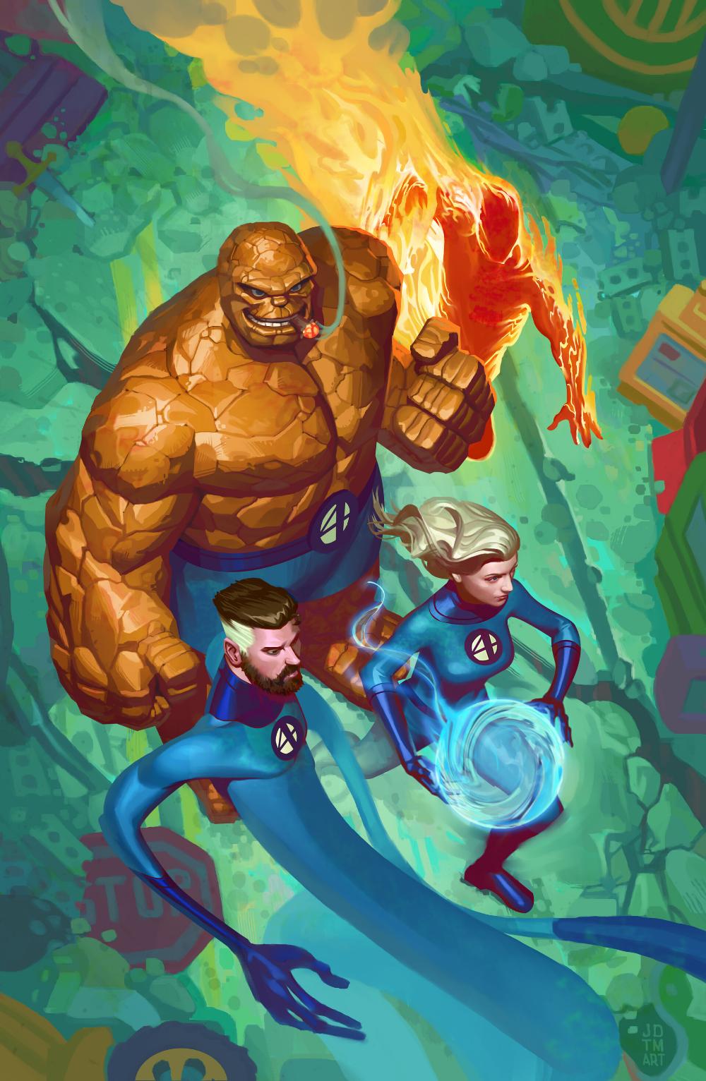 ArtStation - The Fantastic Four, Johnny Morrow
