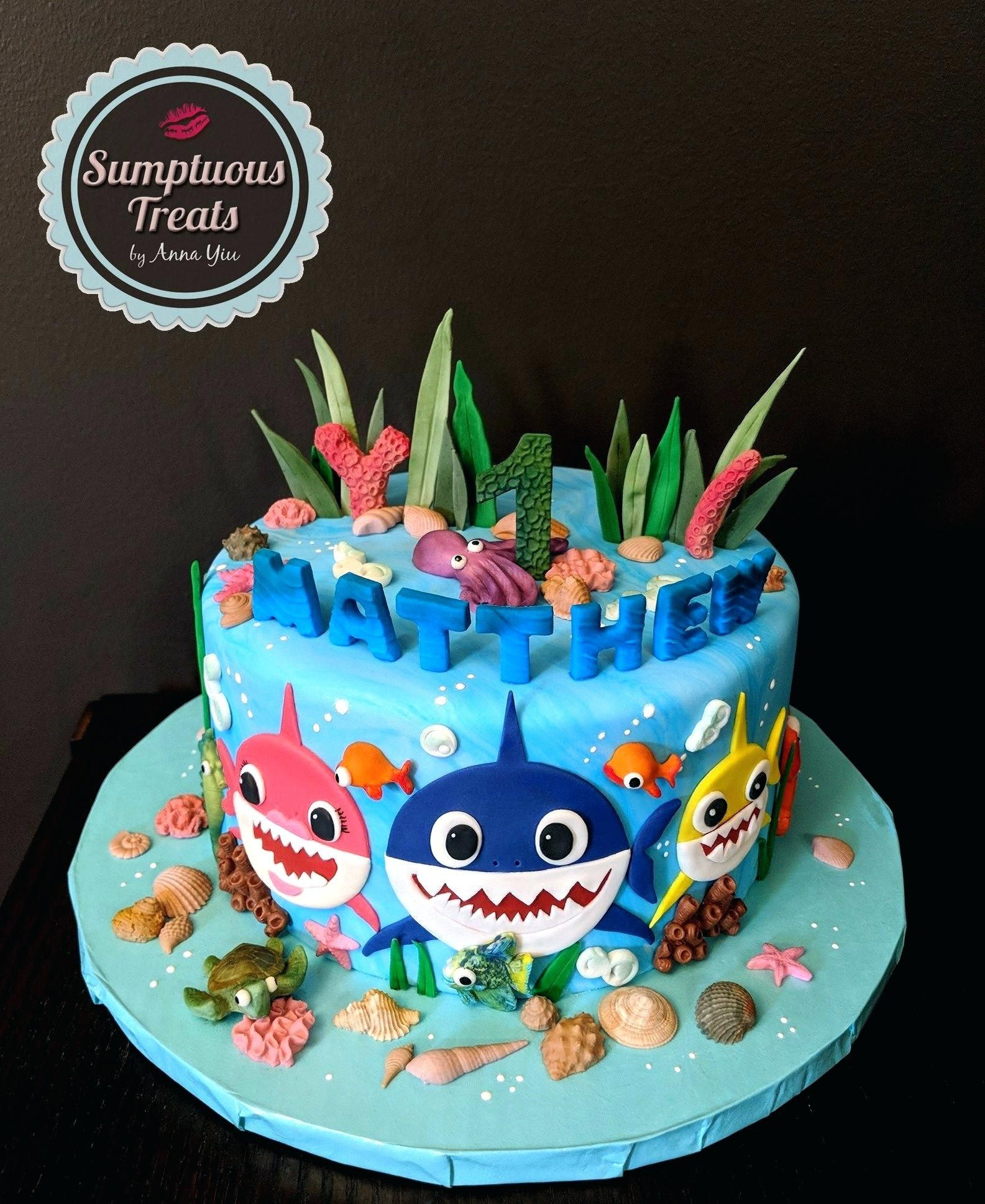 20 Awesome Image Of Shark Birthday Cake With Images Shark