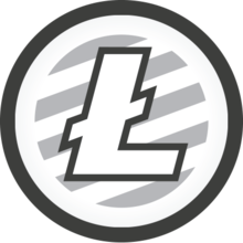 Get Free Litecoin Coin Round Logo Ltc Bitcoin Business
