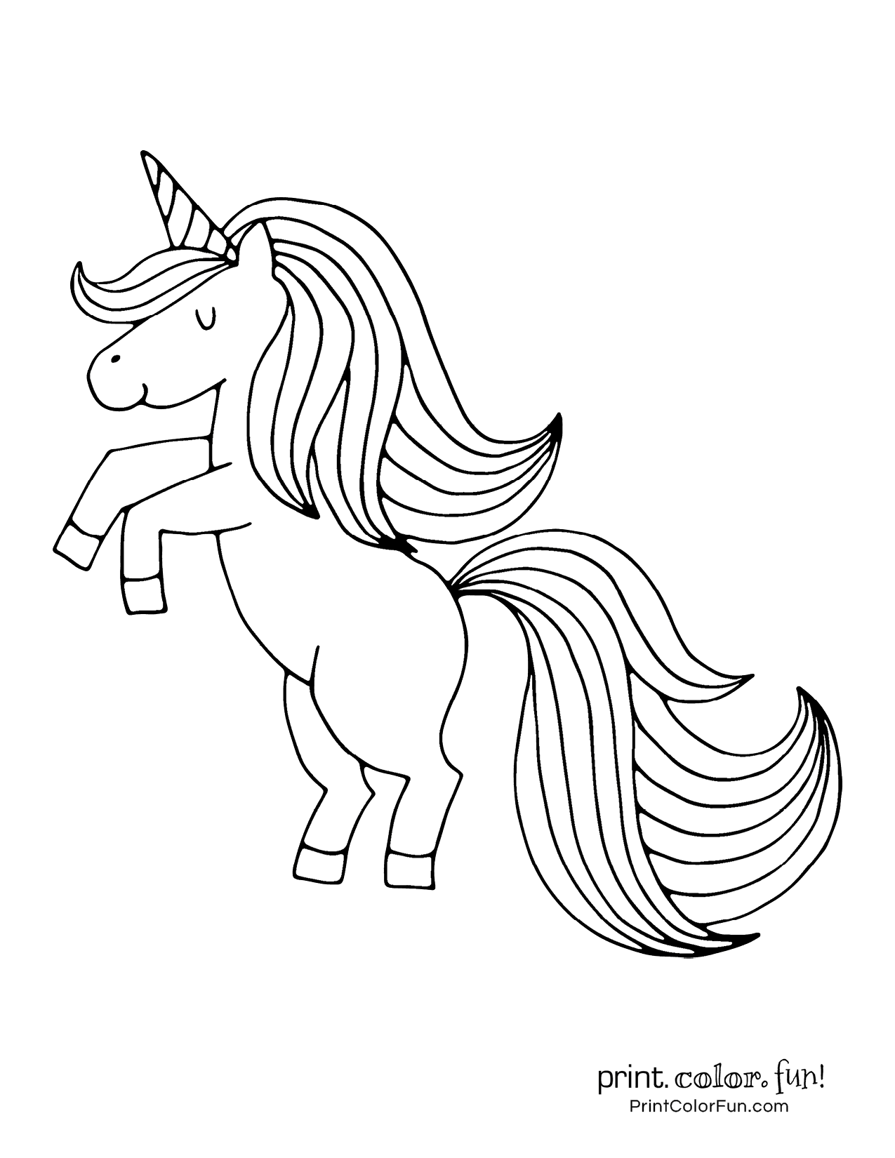 100 Magical Unicorn Coloring Pages The Ultimate Free Printable Collection At Print Color Fun Co Unicorn Coloring Pages Fairy Coloring Pages Coloring Pages