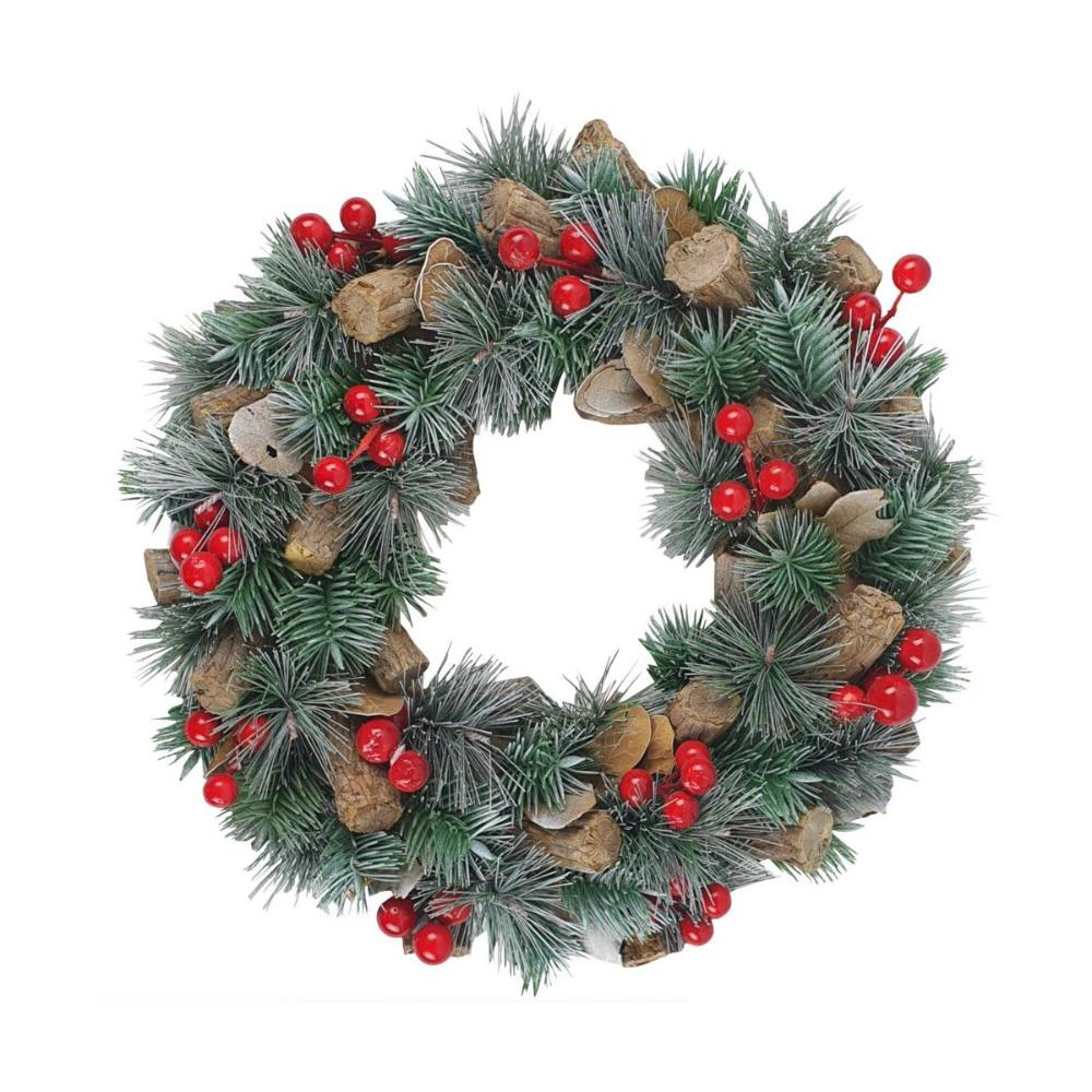 Wianek Swiateczny 33 Cm Bozonarodzeniowy Swieczniki I Dekoracje Swiateczne W Atrakcyjnej Cenie W Sklepach Leroy Mer Christmas Wreaths Holiday Holiday Decor