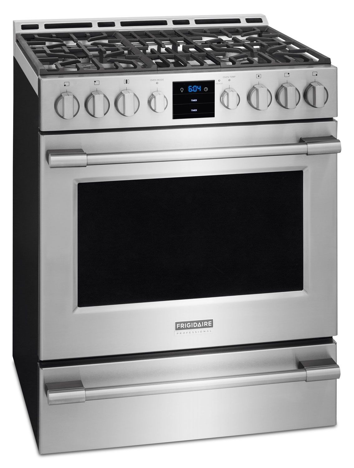 Cooking Products Frigidaire Professional Stainless Steel Freestanding Gas Convection Range 5 1 Cu Ft Fpgh3077rf