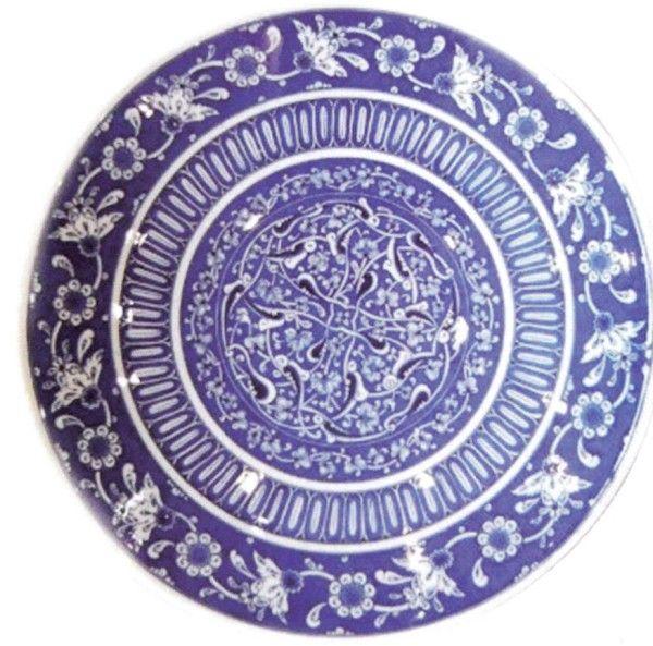 mavi seramik tabak