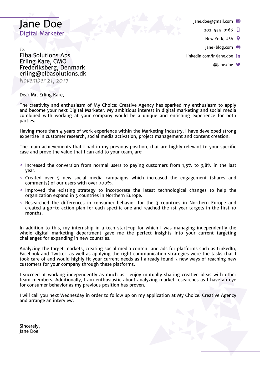 Cover Letter Templates for 2019 Use & Land your Dream
