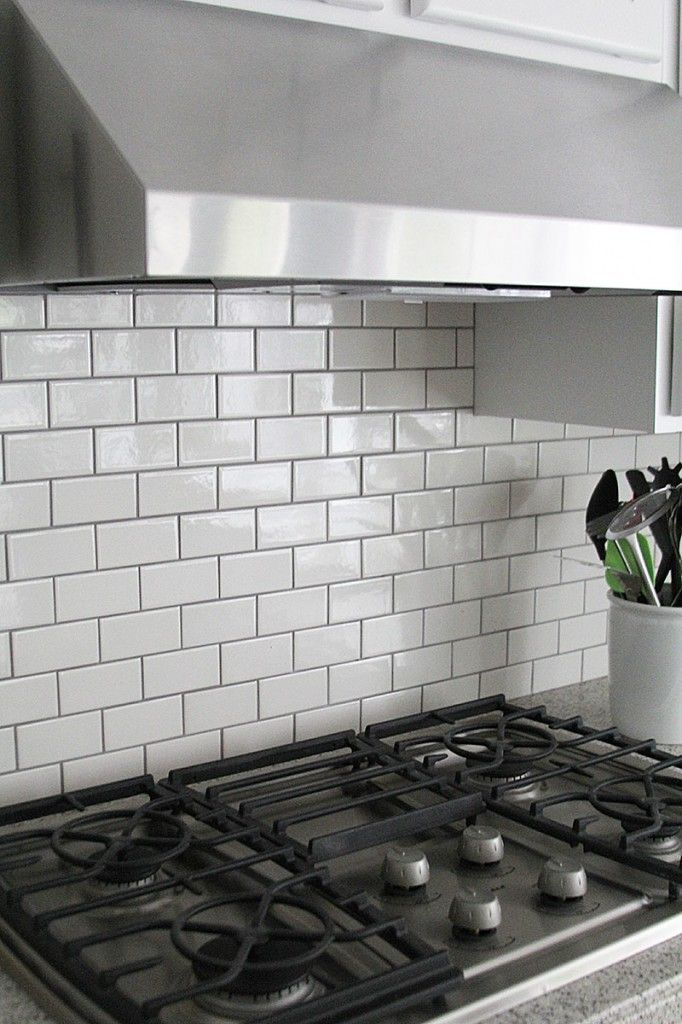 Jennifer Stagg Of With Heart Chose Dark Grout When She Created A Subway Tile  Backsplash In Photo