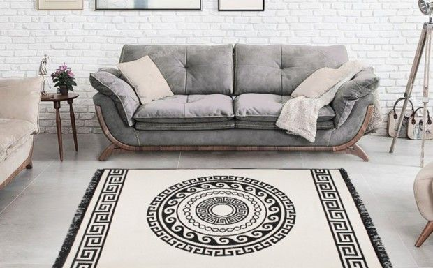 beautiful grey sofa
