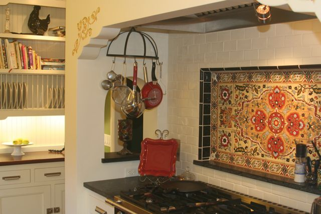 Spanish Kitchen With Sweet Talevera Looking Tiles With Images