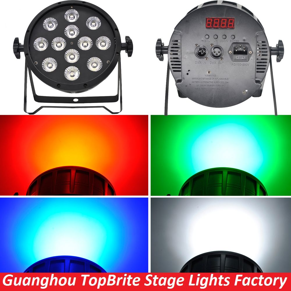 Free Shipping High Quality 12x10w 4in1 Rgbw Led Par Party Star Show Stage Lights With Dmx512 Dj Disco Light Sound Equipmen Disco Lights Stage Lighting Dj Disco