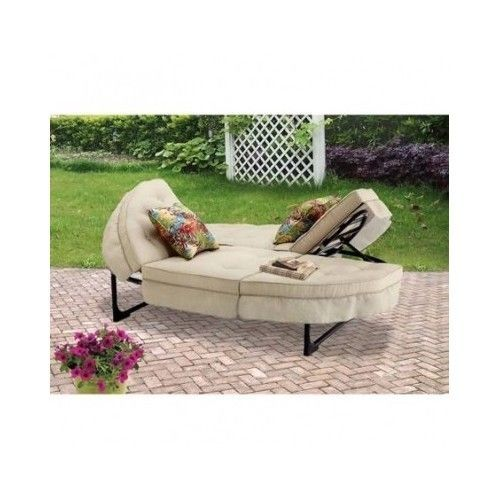 Furniture Outdor Round Patio Chaise Double Lounger Orbit Lounge Yard Deck  Seats #OrbitLounger