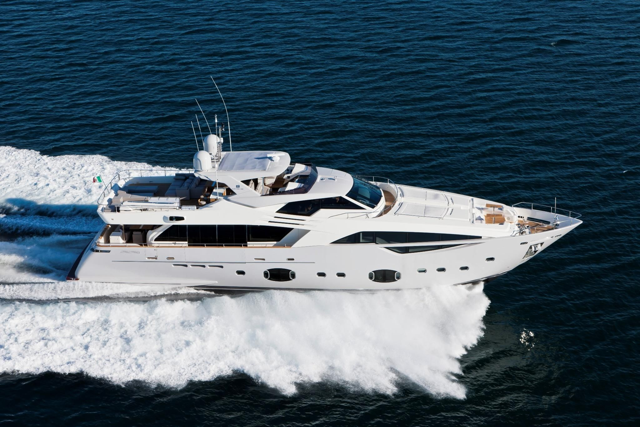 external view custom line cl 100 yacht luxury ferretti customline yacht brands yacht for sale yacht pinterest