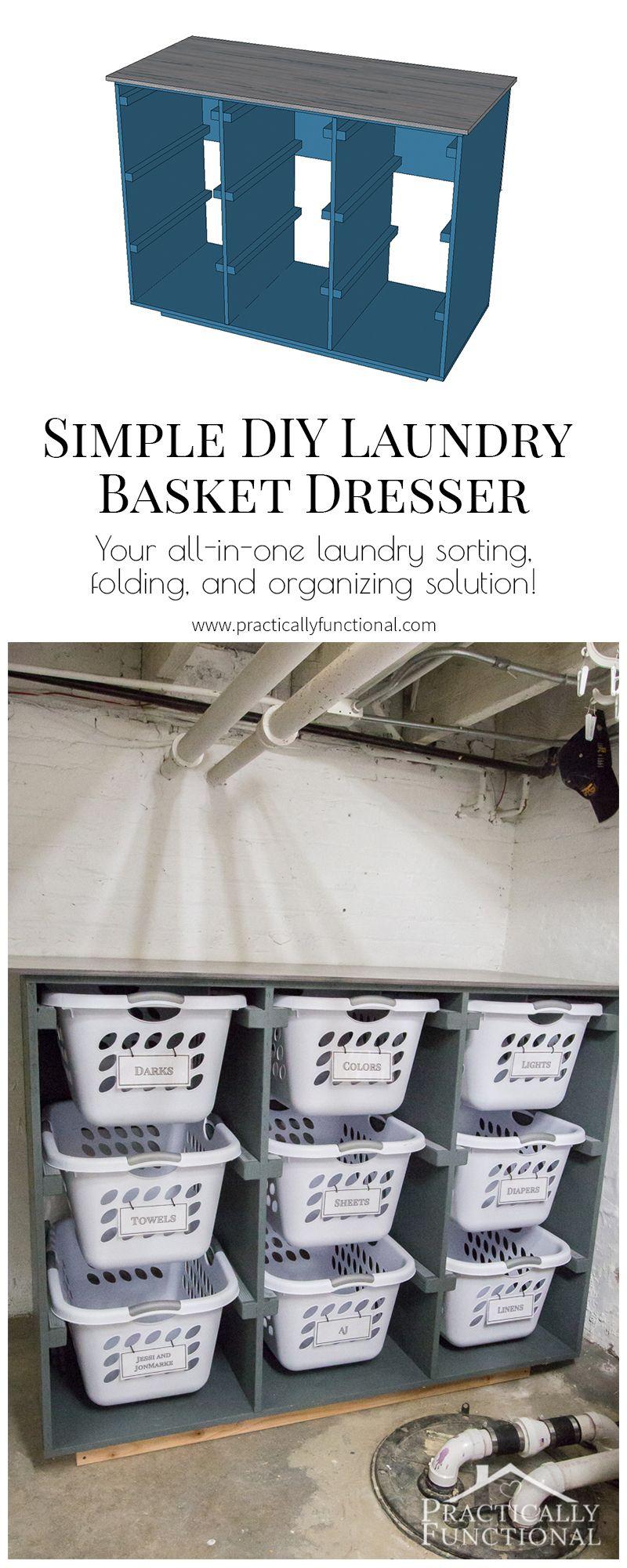 Simple Diy Laundry Basket Dresser Laundry Basket Dresser