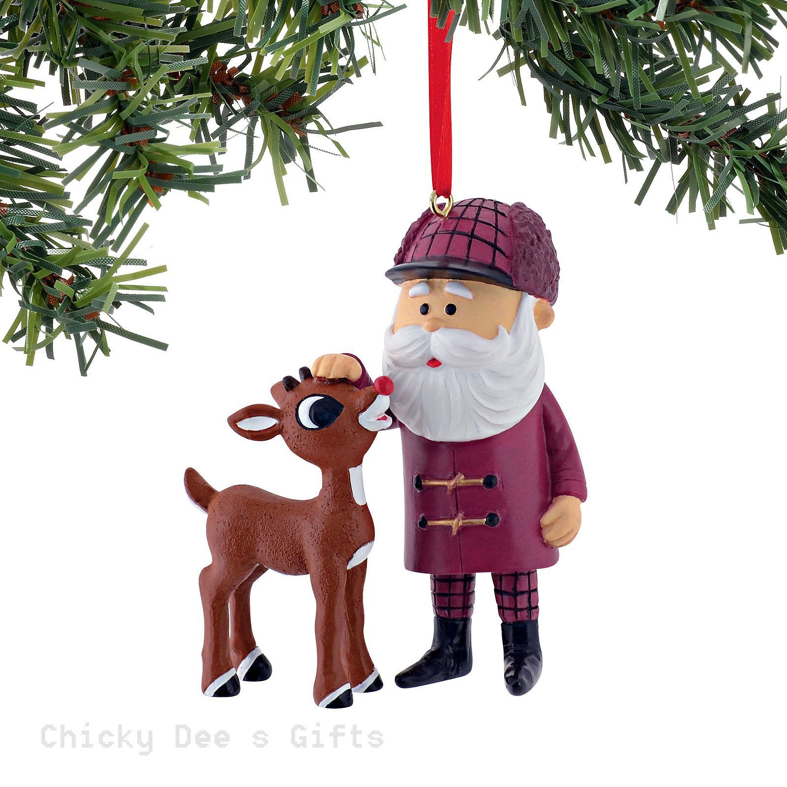 Rudolph Red Nose Reindeer Rudolph and Santa Ornament 4050047 NEW 2015