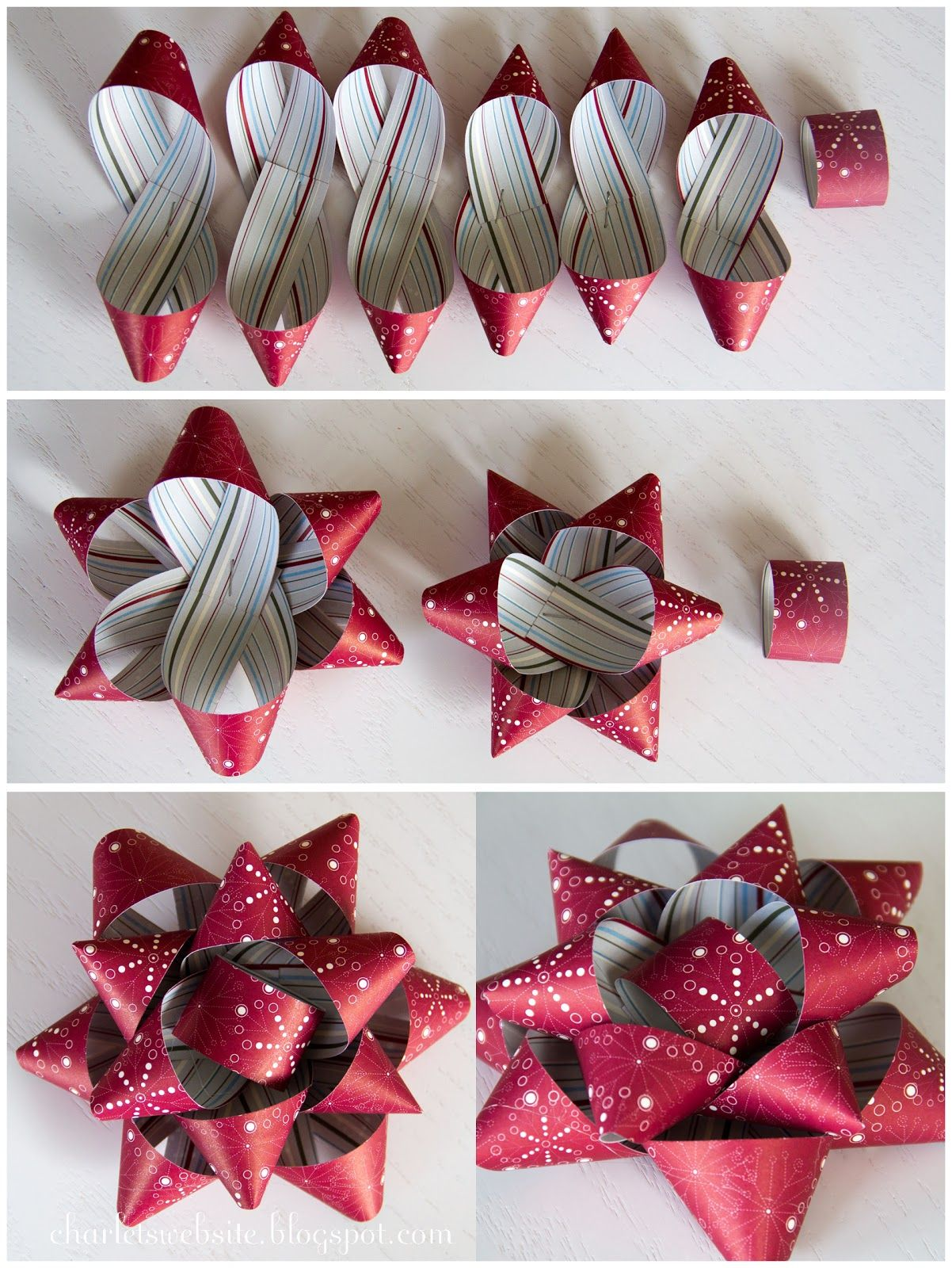 20 Gift Wrap Bows Christmas Metallic Wrapping Xmas Bow Decoration