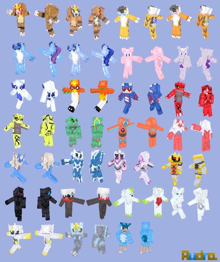 Pokemon Minecraft Skins Minecraft Pinterest Minecraft Skins - Skin para minecraft pe de pokemon