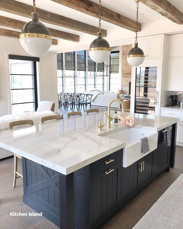 New Kitchen Island Decoration Farmhouse Style Kitchen Modern Farmhouse Kitchens Kitchen Style