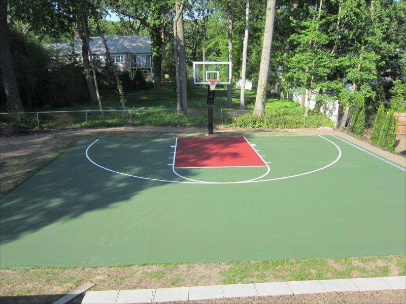 Asphalt Backyard Basketball Court Cost Basketball Court Backyard