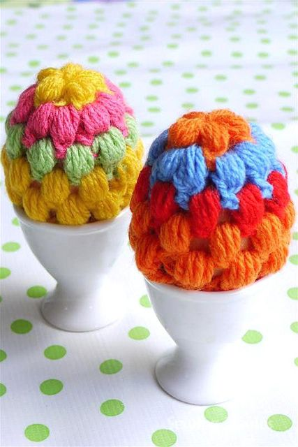 Crochet: Egg Warmers - With Love by Sewing Daisies, via Flickr