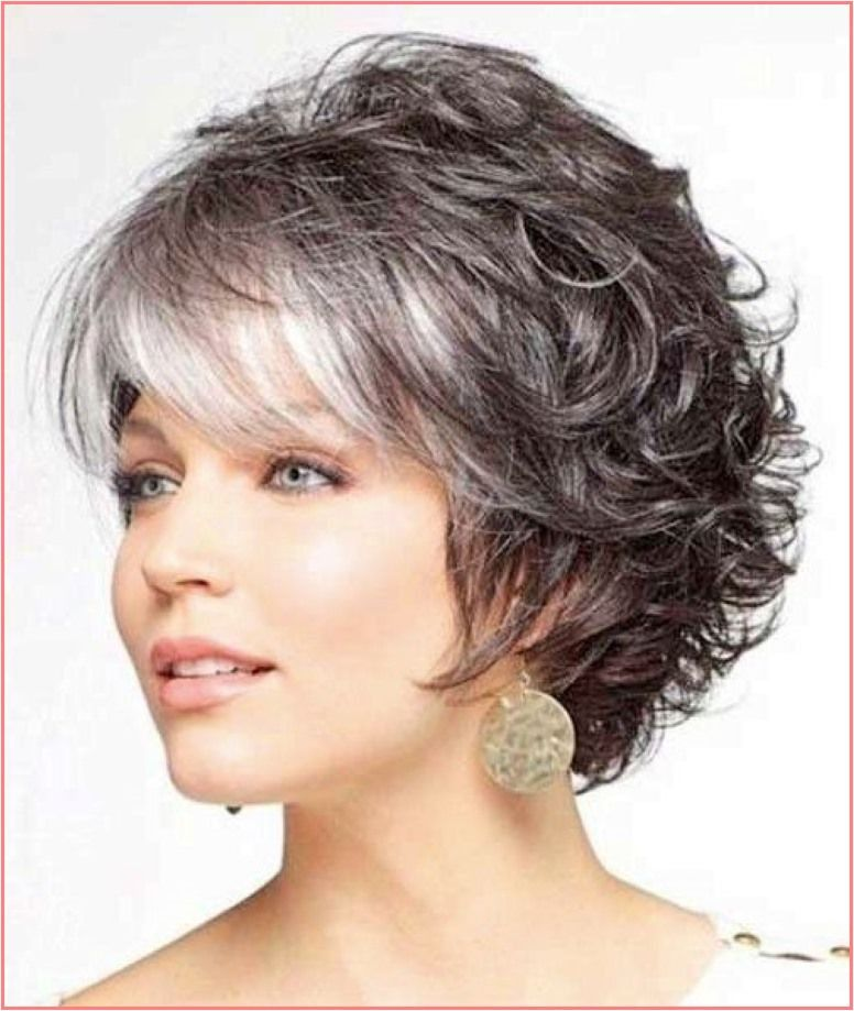 Short Curly Hairstyle With Short Bangs In 2020 Short Hair Styles For Round Faces Short Hair With Layers Short Hair Styles