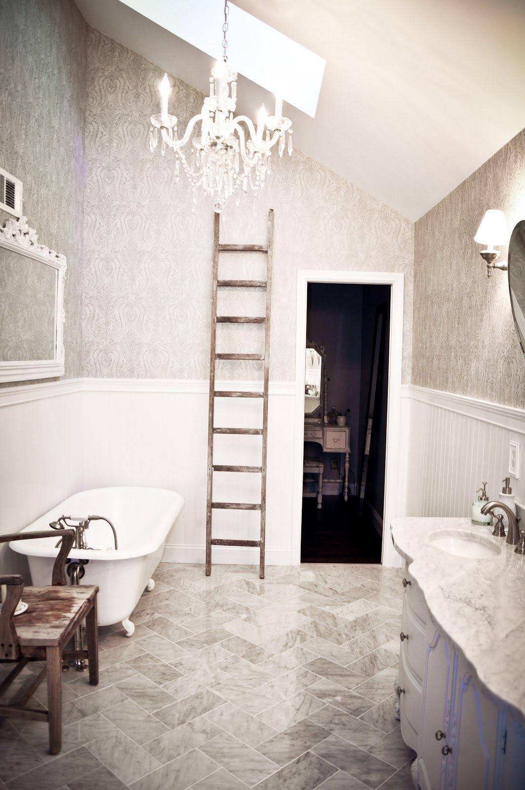 rustic farmhouse bathroom   Bathroom, Rustic farmhouse ... on Rustic Farmhouse Bathroom Tile  id=57007
