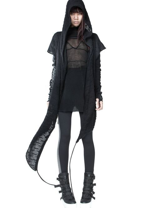DEMOBAZA. Post-apocalypse clothing / fashion / post-apocalyptic wear / women's / dystopian / wear / style / looks / all-black