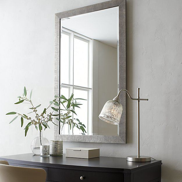 29 X 47 399 Champagne Gold Birch Rectangular Wall Mirror Crate And Barrel Mirror Wall Bedroom Mirror Design Wall Mirror Wall
