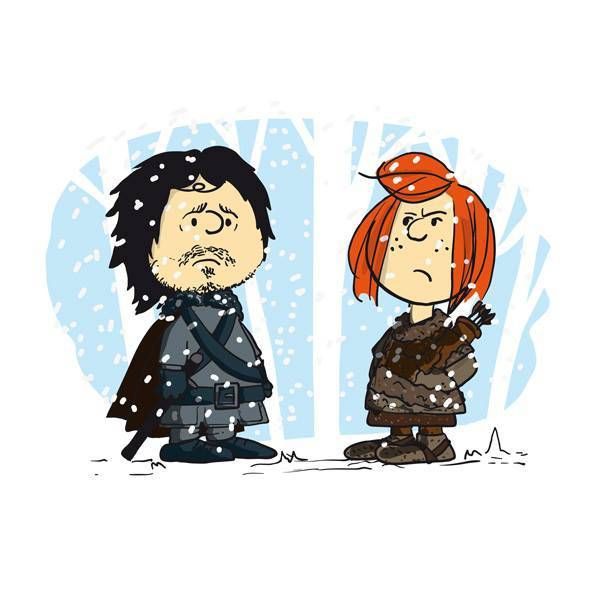 i-love-you-john-snow Peanuts Game of Thrones