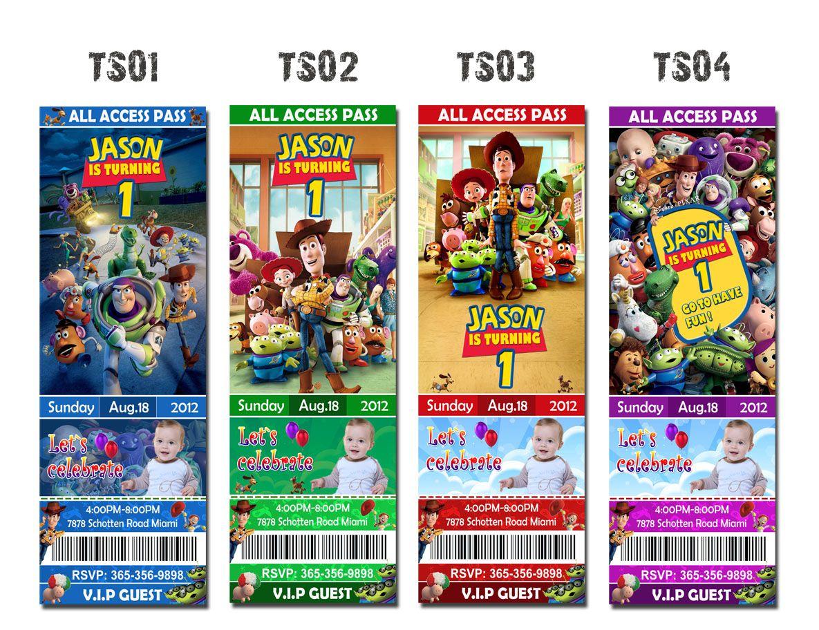 2X6 Toy Story Invitation, Toy Story Birthday Party Invitation ...