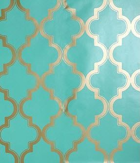 Turquoise And Gold Gold Wallpaper Wallpaper Accent Wall Wallpaper