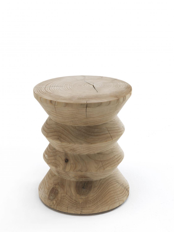 Ceppo Di Legno Tavolino classic riva 1920 design: c.r. & s. riva 1920 stool made