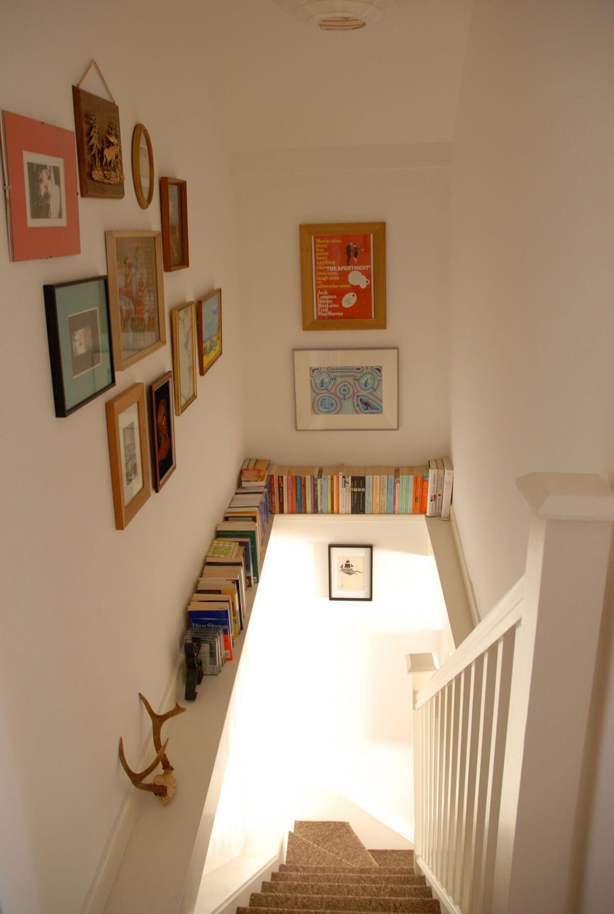 28 Stilvolles Treppenhaus Dekorationsideen für die Anzeige von Pflanzen bis zu Bildern #hausdekodekoration