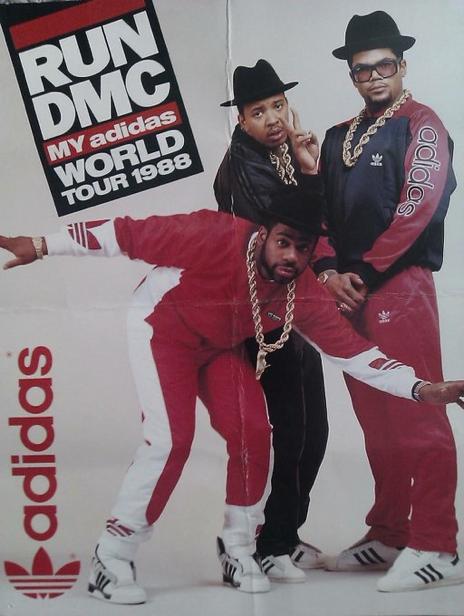 Run Dmc 1988 World Tour Hip Hop Style Included Track Suits Sportswear Brands Like Adidas And Nike Kangol Hats A Run Dmc Hip Hop Fashion Hip Hop Classics