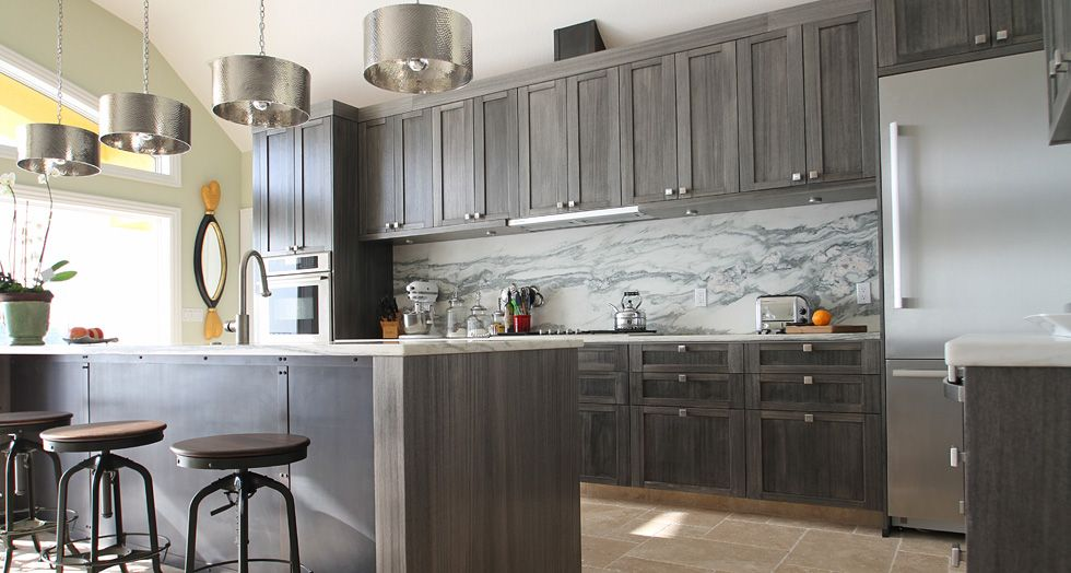 Best Grey Stained Cabinetry Kitchen Designed By T2Thes Via 400 x 300