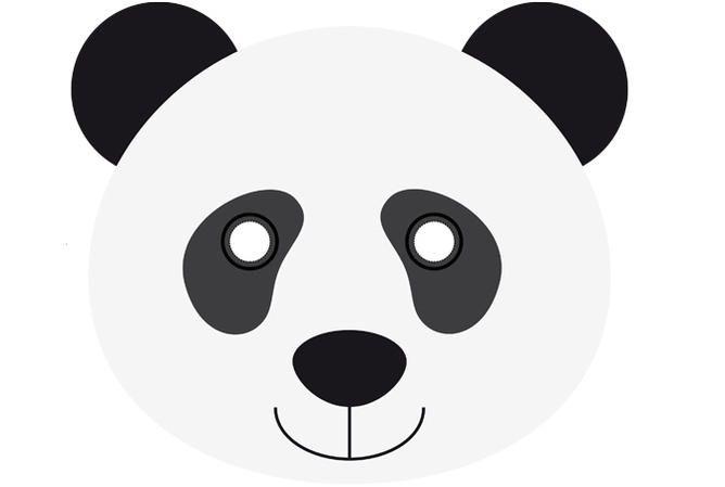 Pin De Juani Lopez En Fiestas Cumpleaños Caretas De Animales Caras De Animales Osos Pandas Dibujo
