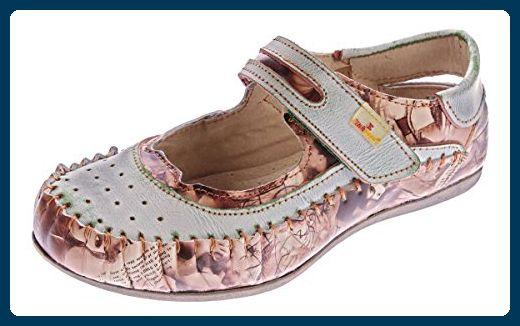 TMA Damen Leder Ballerinas Echtleder Slipper Comfort Schuhe Sandalen TMA 5068 Rot Gr. 37 X6LjApjqVz