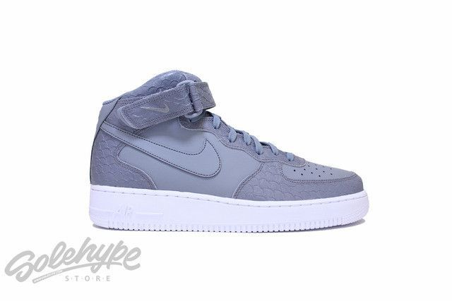 NIKE AIR FORCE 1 07 MID LV8 AF1 COOL GREY WHITE 804609 004
