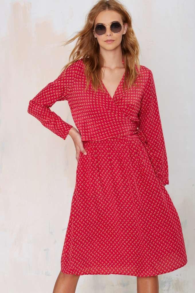 4a3dcecdb661 Vintage Diane Von Furstenberg Drea Silk Dress | $$ Vintage Dresses ...