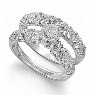 Simona\'s Victorian Style Imitation Diamond Wedding Ring Set - Only ...