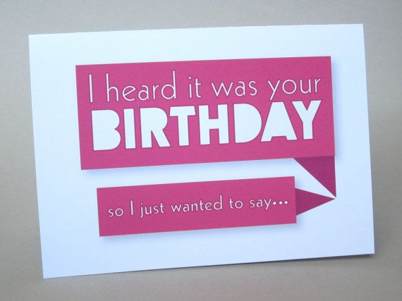 Birthday Cards Notes ~ Funny birthday card sarcastic card your birthday by fungirlscards
