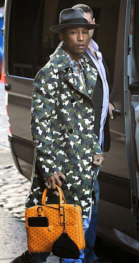 ef135babfde Fashion Designer Pharrell Williams in camo