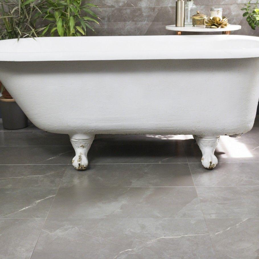 Marmi Tech Moon Gray 12x24 Matte l Porcelain Tile | Tilebar.com