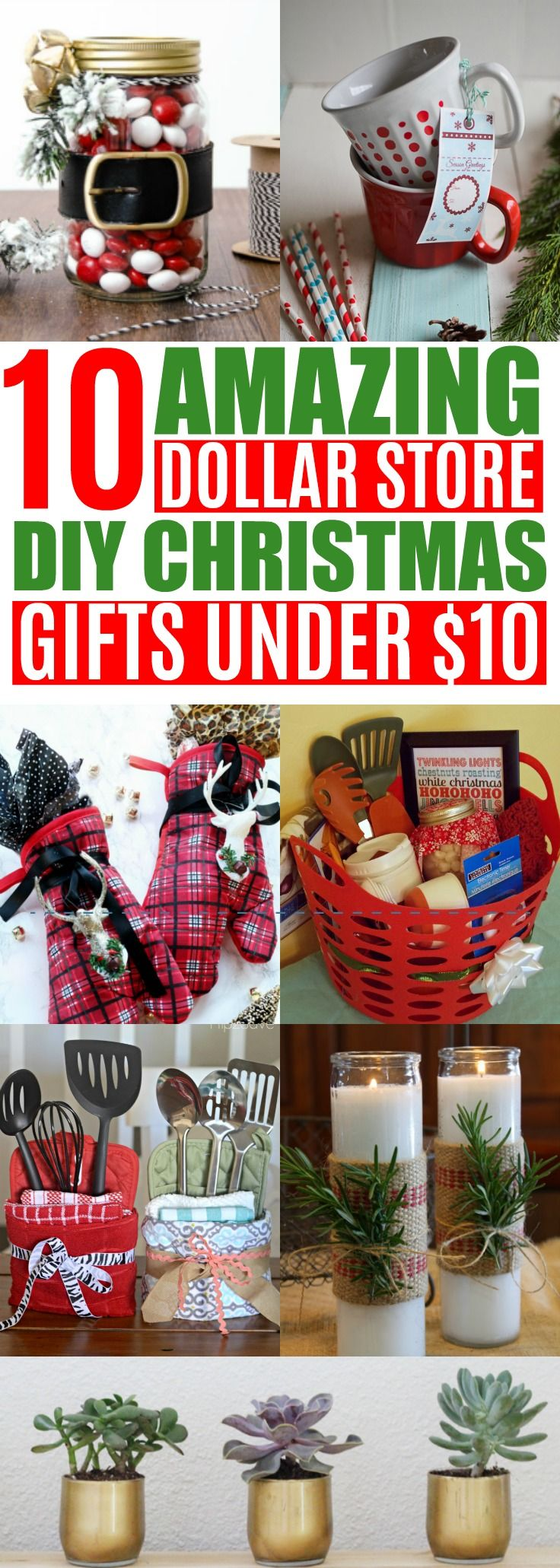 10 diy cheap christmas gift ideas from the dollar store under 10 diy and crafts pinterest dollar stores friends family and christmas gifts - Cheap Christmas Gifts For Family
