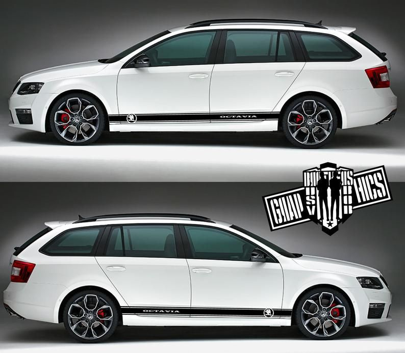 Side door vinyl decal sticker for Skoda Octavia Sport