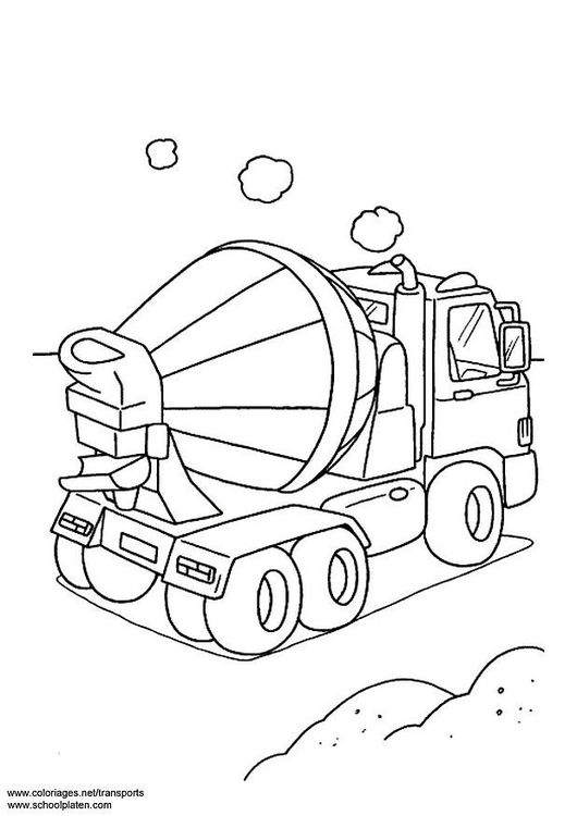 Coloring Page Concrete Mixer Img 3091 Coloring Pages Butterfly Coloring Page Coloring For Kids