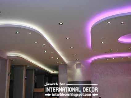Plasterboard ceiling designs and drywall سقف کناف Pinterest - Techos Interiores Con Luces