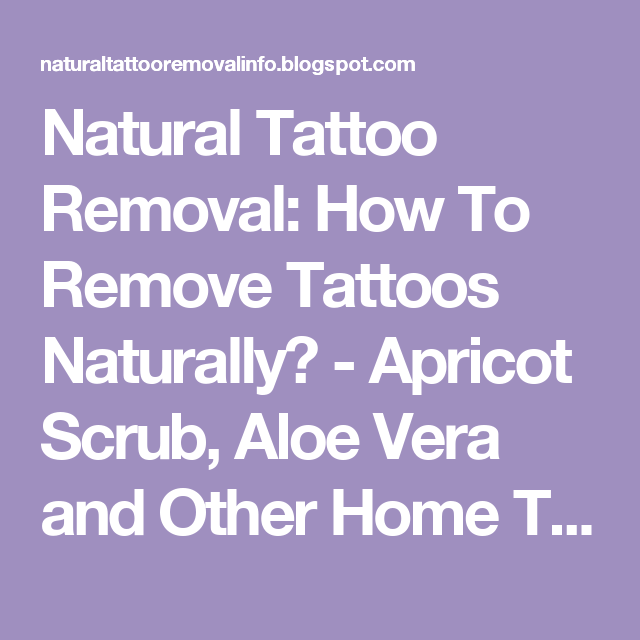 Aloe Vera Yogurt Tattoo Removal: Natural Tattoo Removal: How To Remove Tattoos Naturally