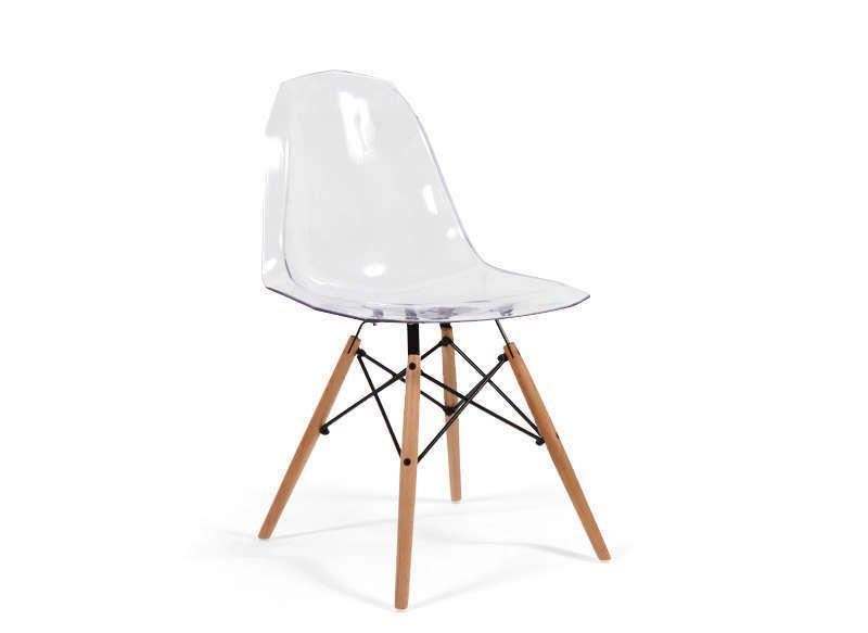 Achatdesign com chaise polycarbonate transparent transparent everest chaise things i love - Chaise transparente et bois ...