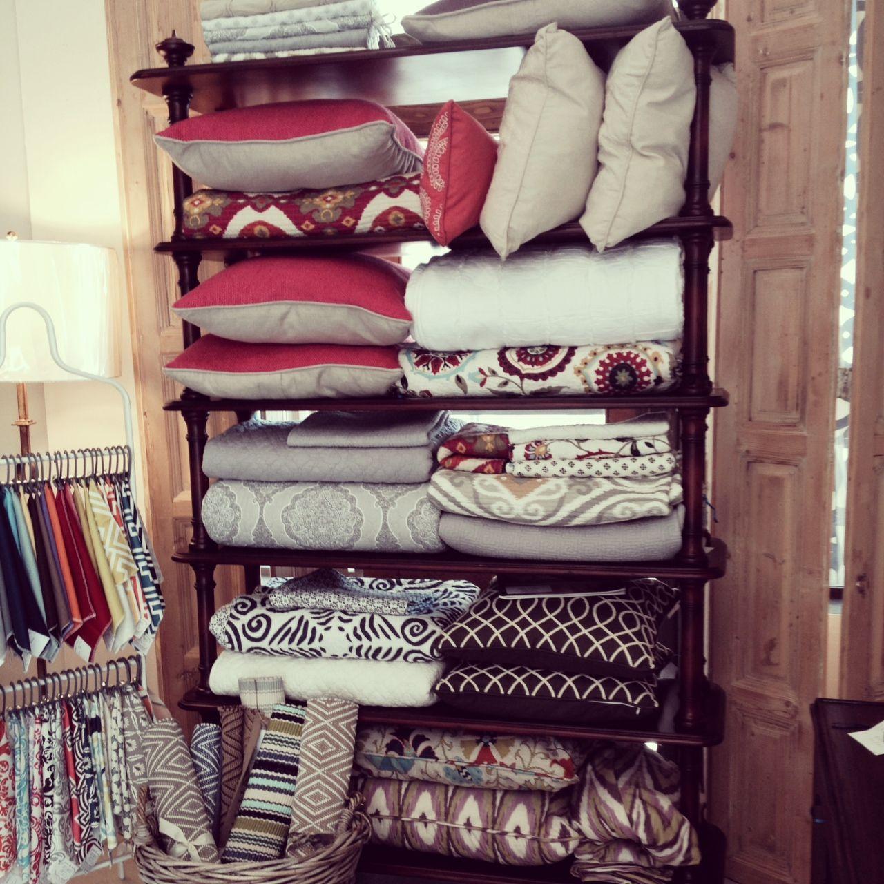 Laura Ramsey Furniture U0026 Interiors } New Bedding Display.  #lauraramseyinteriors #home #decor