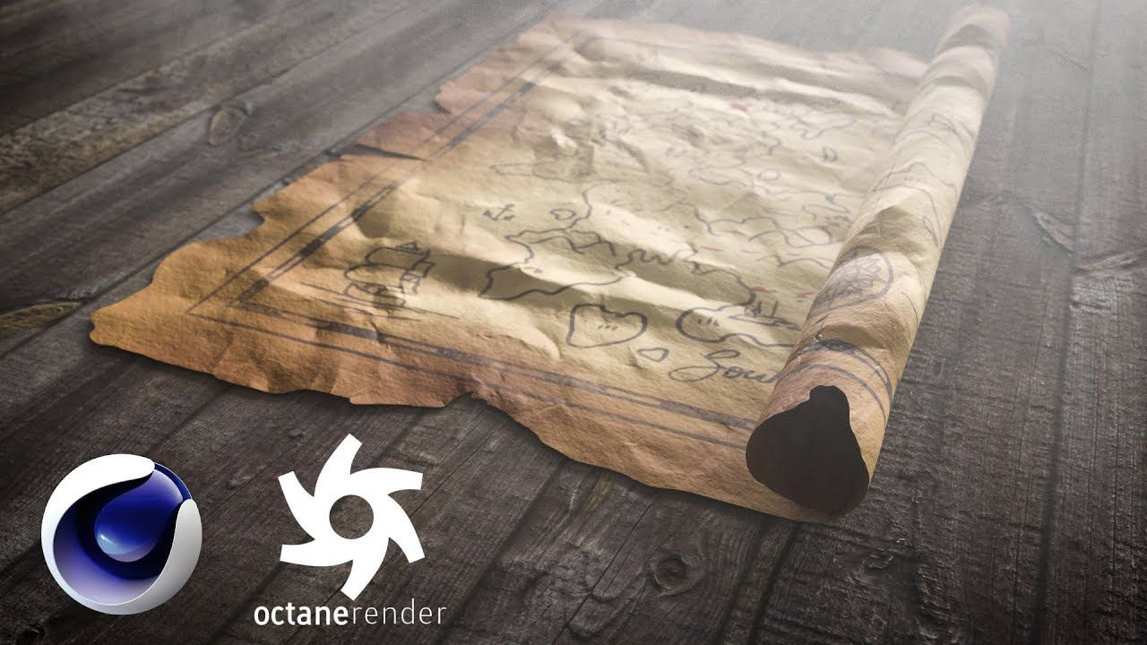 Roller Couchtisch Champ Ii Rolling Out A Treasure Map In Cinema 4d And Octane Rolling Out A