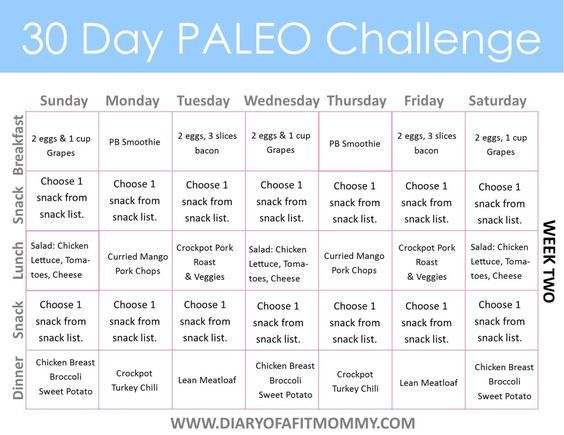30 Day Paleo Challenge Diary Of A Fit Mommy 30 Day Paleo Challenge Paleo Challenge Free Meal Planning Printables