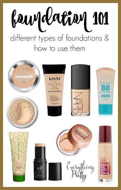 Foundation 101 Types of Foundations and How to Use Them